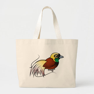 Grand Tote Bag Un plus grand Oiseau-de-paradis de Birdorable