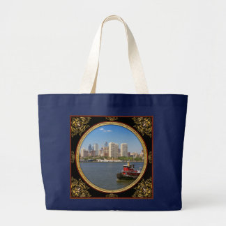 Grand Tote Bag Ville - Camden, NJ - la ville de Philadelphie