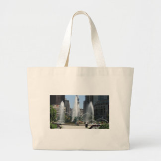 Grand Tote Bag Vue de fontaine de Philadelphie