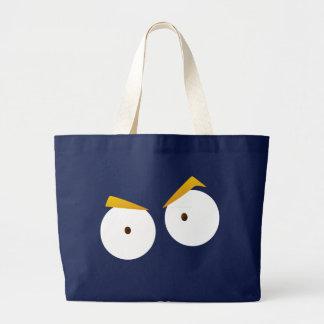 Grand Tote Bag Yeux de garçon d'Anime - Fourre-tout enorme