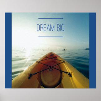 Grande affiche de motivation rêveuse