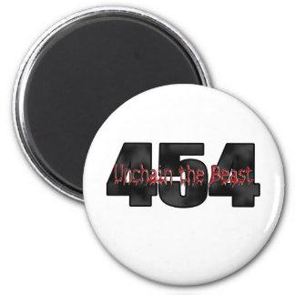 Grande bête du bloc 454 magnet rond 8 cm