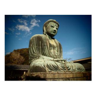 Grande carte postale de statue de Bouddha