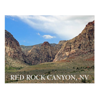 Grande carte postale rouge de canyon de roche !