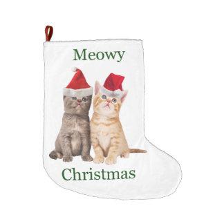 Grande Chaussette De Noël Bas de Noël de chaton de Noël de Meowy