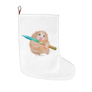 Grande Chaussette De Noël Bas drôle de Noël de hamster par ORDesigns