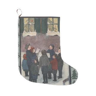 Grande Chaussette De Noël Carolers