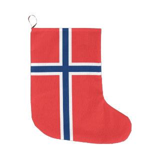 Grande Chaussette De Noël Drapeau de la Norvège