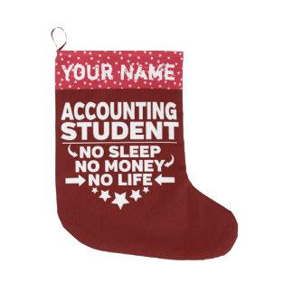 Grande Chaussette De Noël Étudiant universitaire drôle de comptabilité