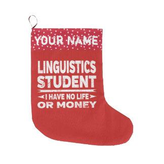 Grande Chaussette De Noël Étudiant universitaire drôle de linguistique