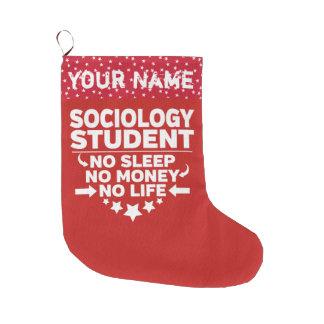 Grande Chaussette De Noël Étudiant universitaire drôle de sociologie