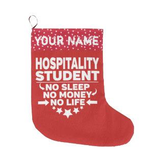 Grande Chaussette De Noël Étudiant universitaire drôle d'hospitalité
