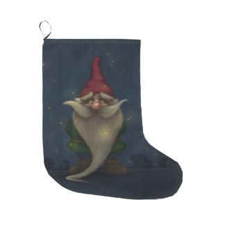 Grande Chaussette De Noël Grand bas de Noël de vieux gnome de Noël