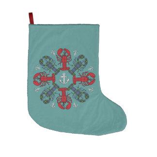 Grande Chaussette De Noël Noël stockant la sarcelle d'hiver nautique de