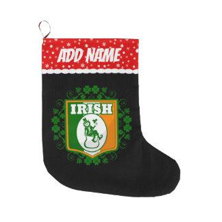 Grande Chaussette De Noël Or de lutin de Jour de la Saint Patrick