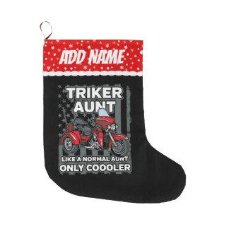 Grande Chaussette De Noël Tante de Triker de moto