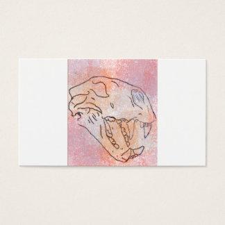 grande couleur pour aquarelle de crâne de chat carte de visite standard