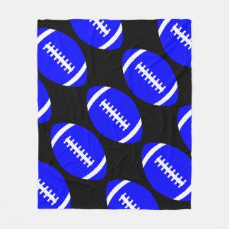 Grande couverture bleue des football pour le