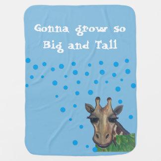 Grande et grande couverture de bébé de girafe