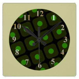 Grande horloge murale de tarte aux cerises par