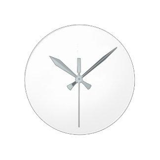 (Grande) horloge murale ronde - mains grises