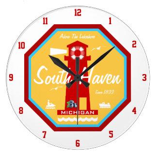 Grande Horloge Ronde Adorez la rive d'un lac - l'asile du sud, MI
