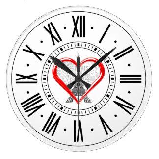 Grande Horloge Ronde Amour Paris