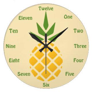 Grande Horloge Ronde Ananas