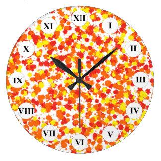Grande Horloge Ronde Arrière - plan épongé par encre de Shirley Taylor