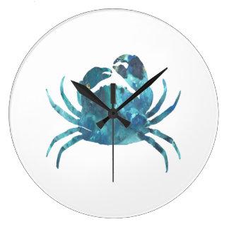 Grande Horloge Ronde Art de crabe