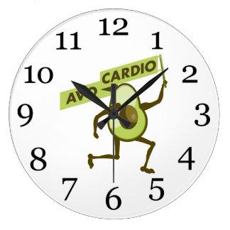 Grande Horloge Ronde Avo-cardio- avocat de bande dessinée