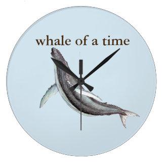 Grande Horloge Ronde baleine d'un horodateur