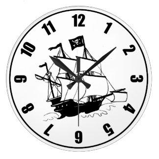 Grande Horloge Ronde Bateau de pirate