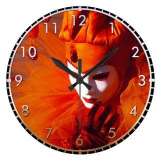 Grande Horloge Ronde Beau harlequin