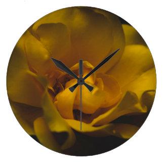 Grande Horloge Ronde Beau rose jaune