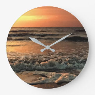 Grande Horloge Ronde Beaux coucher du soleil et surf