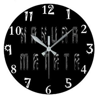 Grande Horloge Ronde Belle conception de motif d'impression de zèbre de