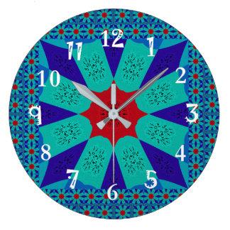 Grande Horloge Ronde Belle couleur féminine égyptienne extraordinaire