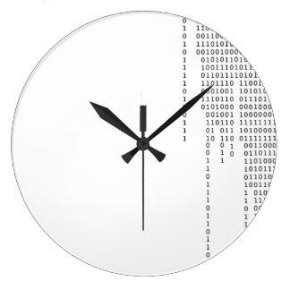 Grande Horloge Ronde Binaire de cascade