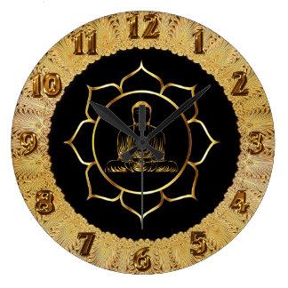 Grande Horloge Ronde Bouddha faisant la conception spirituelle de