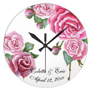 Grande Horloge Ronde Cadeau de mariage nuptiale d'horloge murale de
