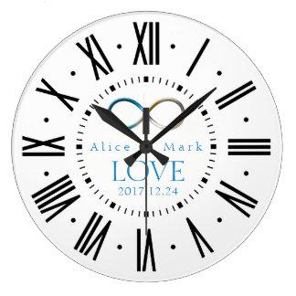 Grande Horloge Ronde Cadeaux de l'amour   d'infini pour toujours