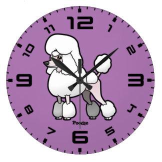 Grande Horloge Ronde Caniche