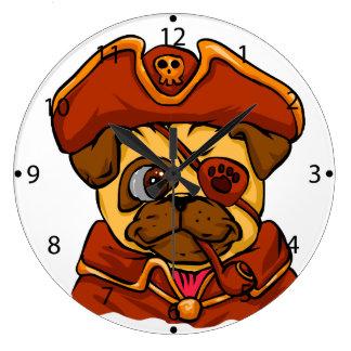 Grande Horloge Ronde Carlin de pirate