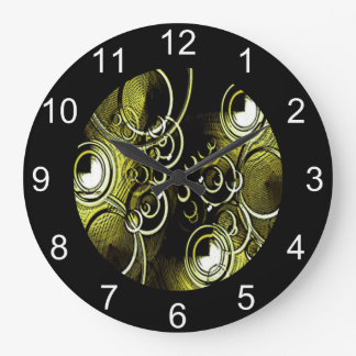 Grande Horloge Ronde Cercles d'or