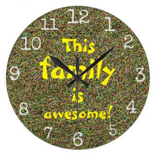 Grande Horloge Ronde Cette famille est conception impressionnante de