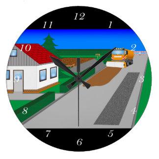 Grande Horloge Ronde Chantier avec l'appareil de rotation