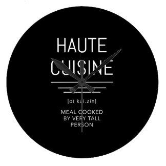 Grande Horloge Ronde Chef français drôle de haute cuisine
