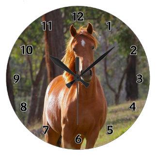 Grande Horloge Ronde Cheval dans les bois