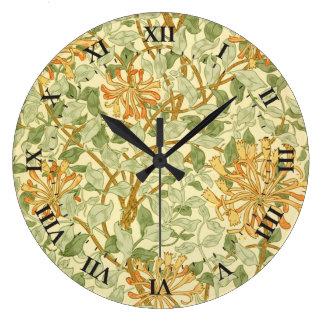 Grande Horloge Ronde Chèvrefeuille par William Morris